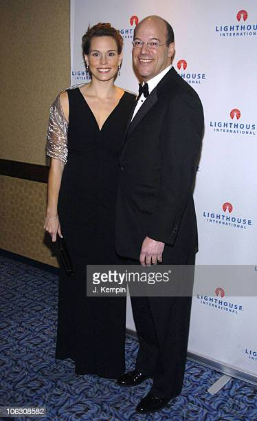 Becky Fleischer and Ari Fleischer during 2006 Lighthouse International Winternight Gala at Marriott Marquis in New York City New York United States