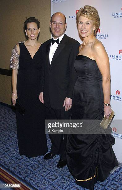 Becky Fleischer Ari Fleischer and Tara Cortes during 2006 Lighthouse International Winternight Gala at Marriott Marquis in New York City New York...