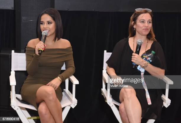 Becky G and Amy Jo Johnson attend the 3rd Annual Bentonville Film Festival on May 4 2017 in Bentonville Arkansas