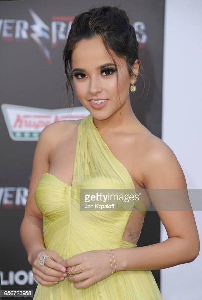 Becky G arrives at the Los Angeles Premiere 'Power Rangers' at the Westwood Village Theater on March 22 2017 in Westwood California
