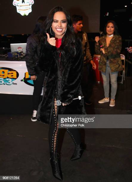 Becky G attends Calibash Los Angeles 2018 at Staples Center on January 20 2018 in Los Angeles California