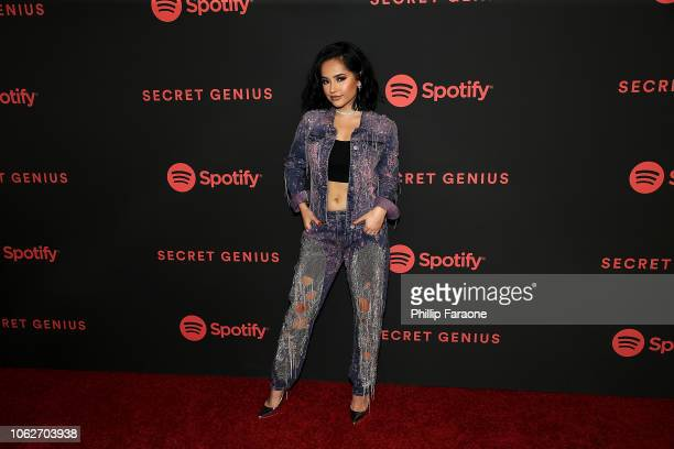 Becky G attends Spotify's 2nd annual Secret Genius Awards at The Theatre at Ace Hotel on November 16 2018 in Los Angeles California