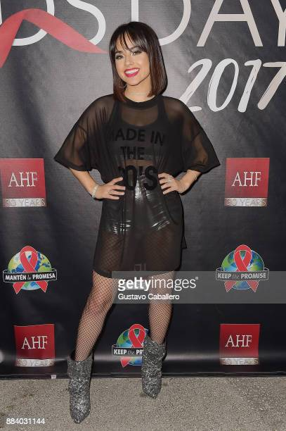 Becky G attends the AHF World AIDS Day Concert on December 1 2017 in Miami Florida
