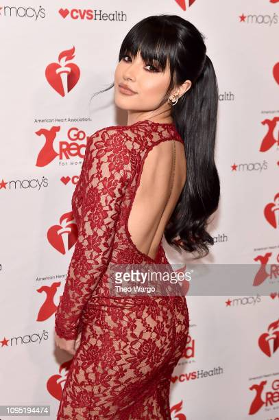 Becky G attends The American Heart Association's Go Red For Women Red Dress Collection 2019 Presented By Macy's at Hammerstein Ballroom on February 7...