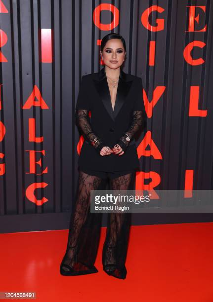 Becky G attends the Bvlgari Bzero1 Rock collection event at Duggal Greenhouse on February 06 2020 in Brooklyn New York