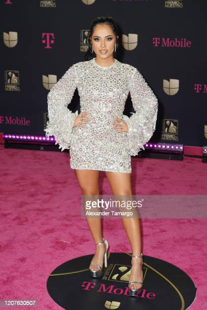 Becky G attends Univision's Premio Lo Nuestro 2020 at AmericanAirlines Arena on February 20 2020 in Miami Florida