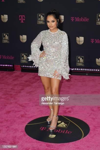 Becky G attends Univision's Premio Lo Nuestro 2020 at AmericanAirlines Arena on February 20 2020 in Miami Florida