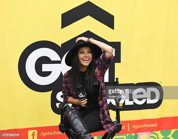 Becky G joins Get Schooled to recognize Compton High School winners of the Graduate For Más Challenge on May 28 2015 in Compton California