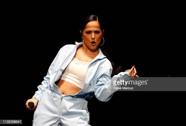 Becky G performs during Calibash Las Vegas at TMobile Arena on January 26 2019 in Las Vegas Nevada