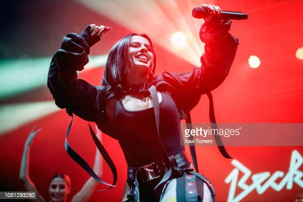 Becky G performs in concert at Razzmatazz during Vodafone Yu Music Shows on October 7 2018 in Barcelona Spain