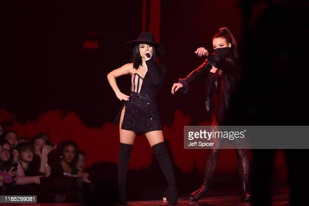 Becky G performs on stage during the MTV EMAs 2019 at FIBES Conference and Exhibition Centre on November 03, 2019 in Seville, Spain.