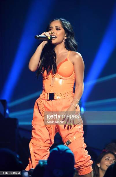 Becky G performs onstage as Taylor Swift Dua Lipa SZA and Becky G perform at The Prime Day concert presented by Amazon Music at on July 10 2019 at...
