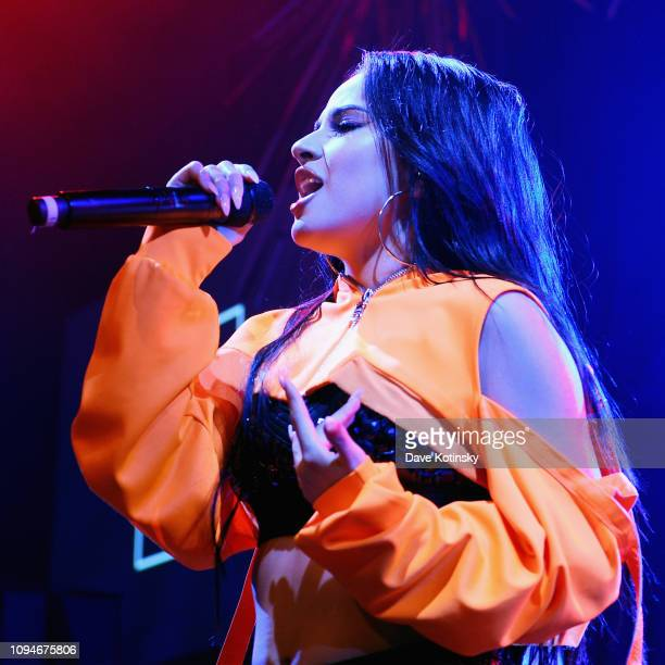 Becky G performs onstage during Sony's Lost in Music Campaign Finale at Sony Hall on February 06 2019 in New York City