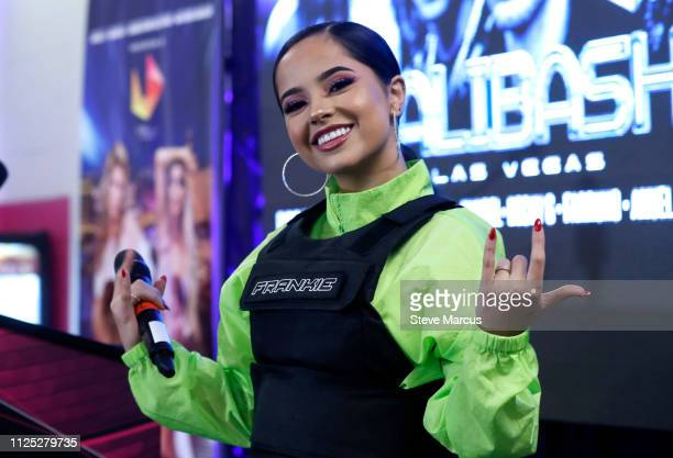 Becky G poses backstage during Calibash Las Vegas at TMobile Arena on January 26 2019 in Las Vegas Nevada