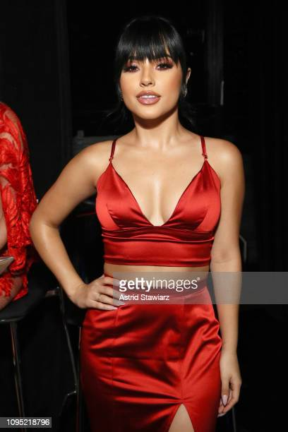 Becky G poses backstage during The American Heart Association's Go Red for Women Red Dress Collection 2019 at Hammerstein Ballroom on February 7 2019...