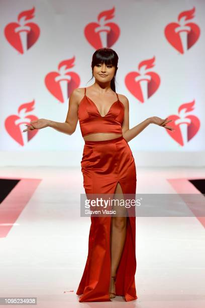 Becky G walks the runway for The American Heart Association's Go Red For Women Red Dress Collection 2019 Presented By Macy's at Hammerstein Ballroom...