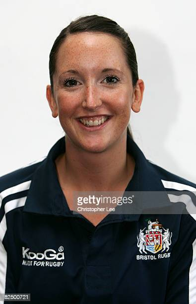 Becky Hall Of Bristol poses for the camera during the Bristol Rugby Club Photocall at Clifton Rugby Club on August 19, 2008 in Bristol, England.