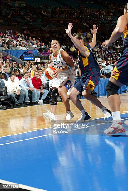 Becky Hammon of the New York Liberty at the WNBA game on June 11 2004 at Madison Square Garden in New York City NOTE TO USER User expressly...