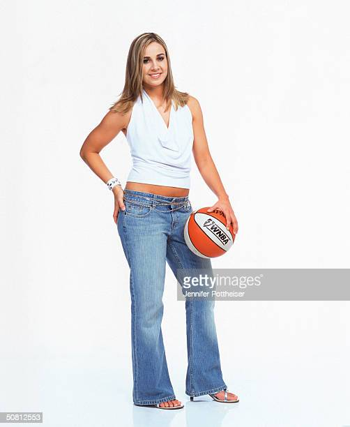 Becky Hammon of the New York Liberty poses for a photograph during the WNBA 'This Is Who I Am' campaign on March 11 2004 in New York City New York...