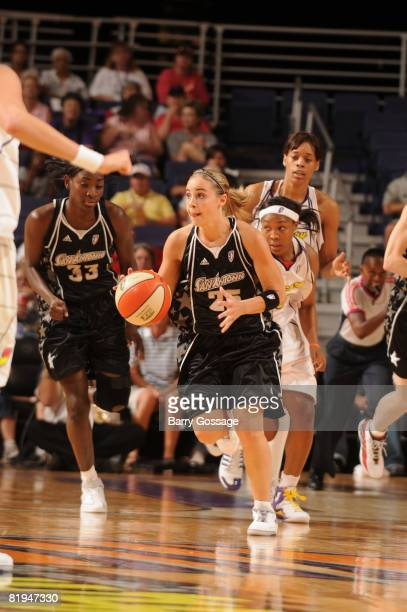 Becky Hammon of the San Antonio Silver Stars handles the ball against the Phoenix Mercury on July 15 at US Airways Center in Phoenix Arizona NOTE TO...