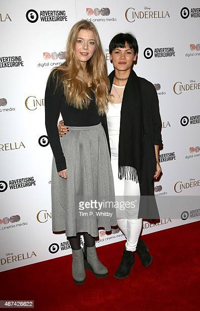Becky Hill and Sinead Harnett attend an exclusive preview screening of Disney's Cinderella hosted by Digital Cinema Media as part of Advertising Week...