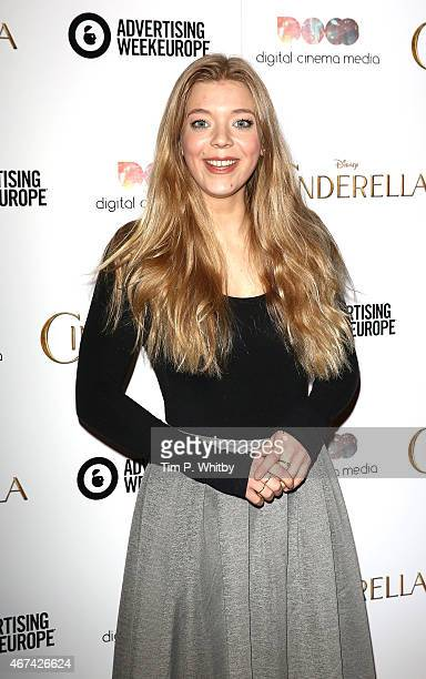 Becky Hill attends an exclusive preview screening of Disney's Cinderella hosted by Digital Cinema Media as part of Advertising Week Europe 2015 at...