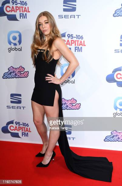Becky Hill attends day two of Capital's Jingle Bell Ball 2019 at The O2 Arena on December 08 2019 in London England