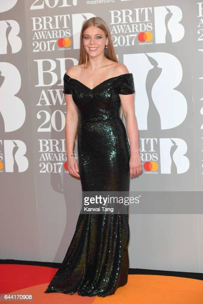 ONLY Becky Hill attends The BRIT Awards 2017 at The O2 Arena on February 22 2017 in London England