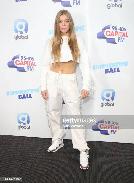 Becky Hill attends the Capital FM Summertime Ball at Wembley Stadium on June 08 2019 in London England