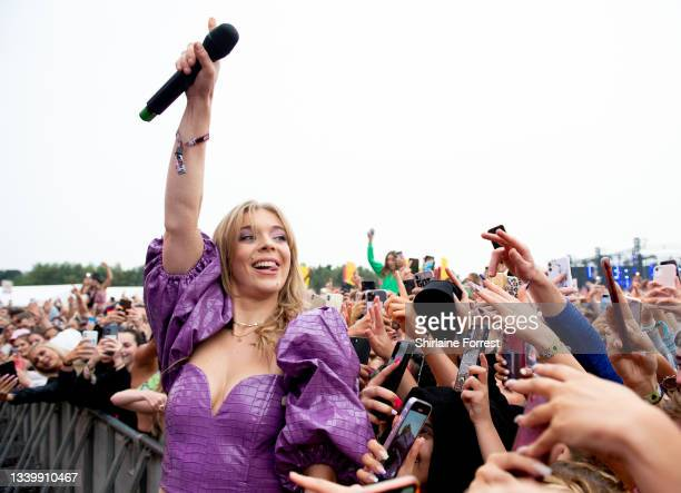 Becky Hill performs during Parklife at Heaton Park on September 12, 2021 in Manchester, England.