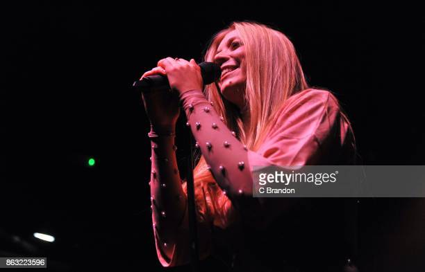 Becky Hill performs on stage at KOKO on October 19 2017 in London England