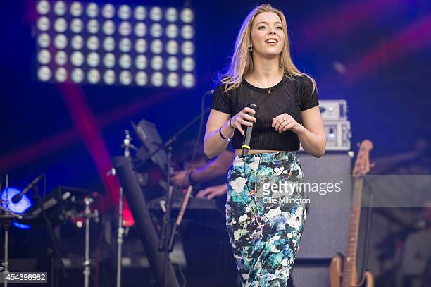 Becky Hill performs onstage during day 1 of Fusion Festival 2014 on August 30 2014 in Birmingham England