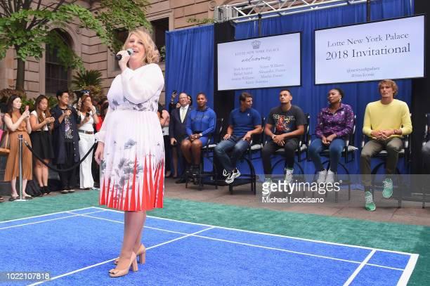 Becky Hubbard Serena Williams Rafael Nadal Nick Kyrgios Venus Williams Alexander Zverev and Mischa Zverev attend 2018 Lotte New York Palace...