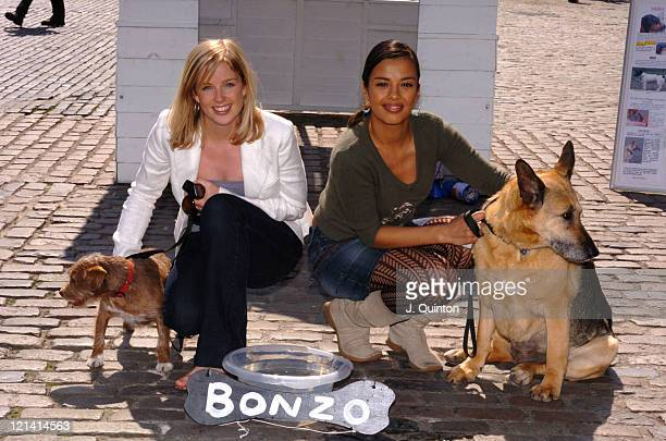 Becky Jago and Liz Bonnin during RSPCA Week National LockIn Press Launch at Covent Garden in London Great Britain
