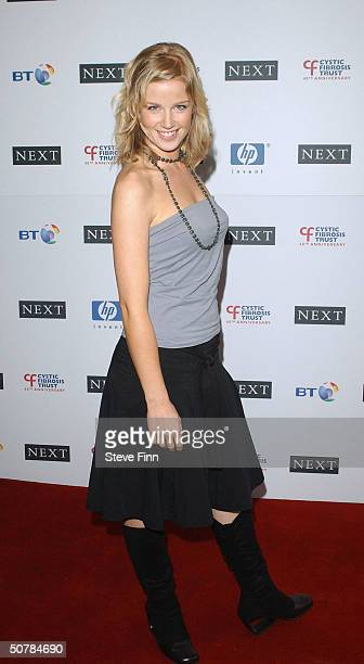 Becky Jago attends the Cystic Fibrosis Trust Breathing Life Awards honoring youngsters suffering with the disease at the Royal Lancaster Hotel April...