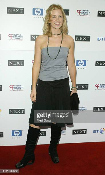 Becky Jago from Capital FM's Breakfast Show during 2004 Breathing Life Awards Presented by the Cystic Fibrosis Trust Arrivals at Lancaster Gate Hotel...