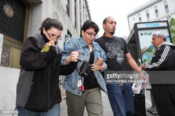 Becky left daughter and Rosemary wife of Pedro Hernandez leave Manhattan Criminal Court on Friday May 25 2012 with an unidentified man Hernandez...