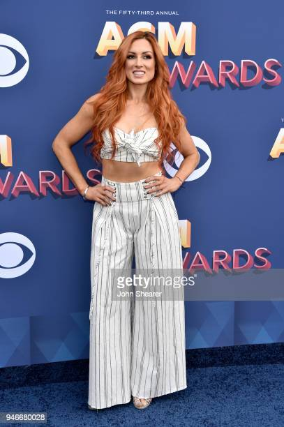Becky Lynch attends the 53rd Academy of Country Music Awards at MGM Grand Garden Arena on April 15 2018 in Las Vegas Nevada
