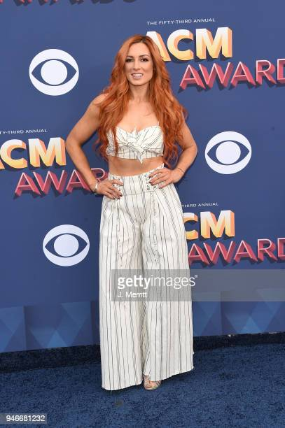 Becky Lynch attends the 53rd Academy of Country Music Awards at the MGM Grand Garden Arena on April 15 2018 in Las Vegas Nevada