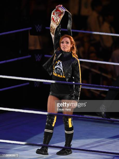 Becky Lynch enters the ring during the WWE Live Tokyo at Ryogoku Kokugikan on June 28 2019 in Tokyo Japan
