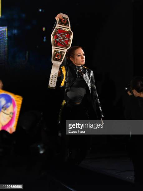 Becky Lynch enters the ring during the WWE Live Tokyo at Ryogoku Kokugikan on June 29 2019 in Tokyo Japan