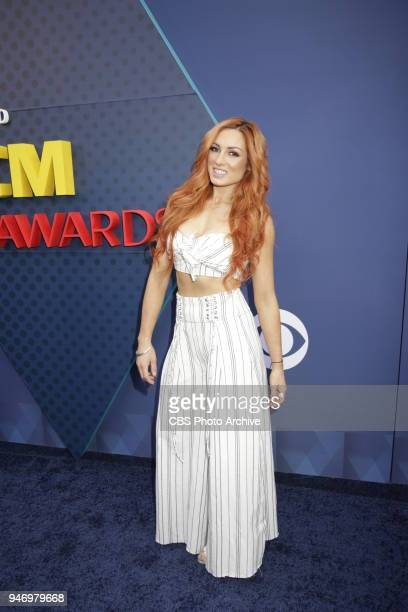 Becky Lynch walks the red carpet at the 53RD ACADEMY OF COUNTRY MUSIC AWARDS live from the MGM Grand Garden Arena in Las Vegas Sunday April 15 2018...