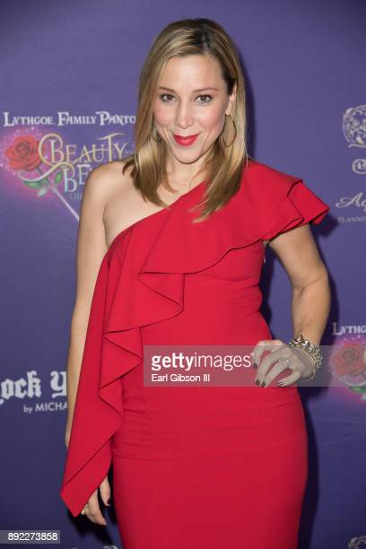 Becky Lythgoe attends the Lythgoe Family Pantos Opening Night Performance Of 'Beauty And The BeastA Christmas Rose' at Pasadena Civic Auditorium on...