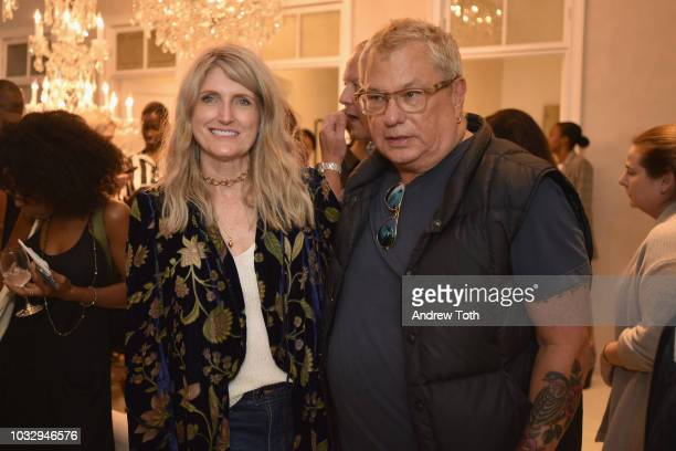 Becky Mick and BCBG President Marty Staff attend the celebration of the BCBGMAXAZRIA SoHo store opening with Kate Young Bernd Kroeber and InStyle on...