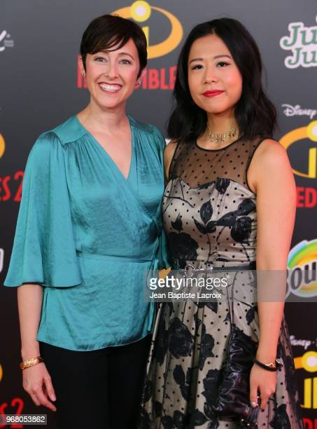 Becky Neiman and Domee Shi attend the World Premiere of Disney and Pixar's 'Incredibles 2' held on June 5 2018 in Los Angeles California