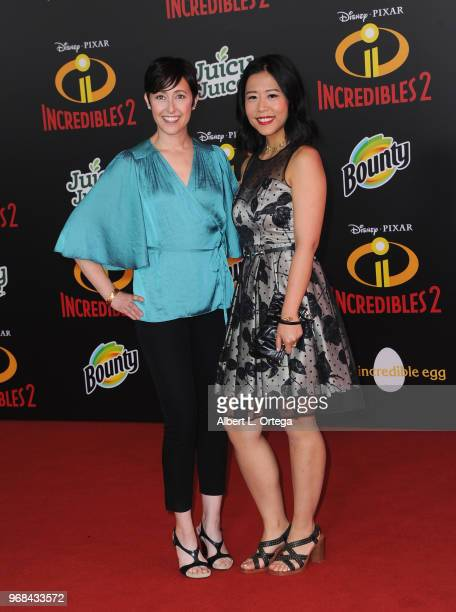 Becky NeimanCobb and Domee Shi arrive for the Premiere Of Disney And Pixar's Incredibles 2 on June 5 2018 in Los Angeles California