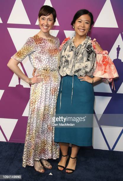 Becky NeimanCobb and Domee Shi attend the 91st Oscars Nominees Luncheon at The Beverly Hilton Hotel on February 4 2019 in Beverly Hills California
