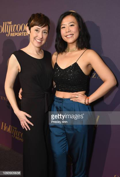 Becky NeimanCobb and Domee Shi attend The Hollywood Reporter's 7th Annual Nominees Night presented by MercedesBenz Century Plaza Residences and...