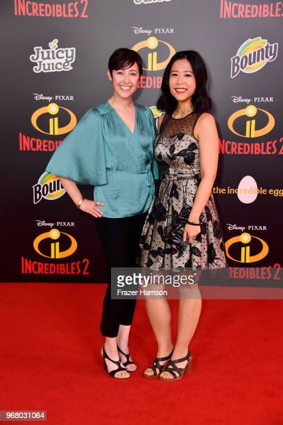 Becky NeimanCobb and Domee Shi attend the premiere of Disney and Pixar's Incredibles 2 at the El Capitan Theatre on June 5 2018 in Los Angeles...