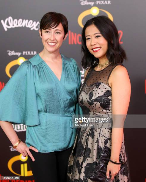 Becky NeimanCobb and Domee Shi attend the World Premiere of Disney and Pixar's Incredibles 2 held on June 5 2018 in Los Angeles California